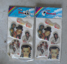 Lot of 2 Vintage 1980s Culture Club Puffy Sticker Packs NIP