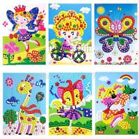 3D Kids Craft Mosaics Art Sticker Princess Butterflies Art Sticker 21*24cm Gift