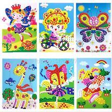 3D Kids Craft Mosaics Art Sticker Princess Butterflies Art Sticker 21*24cm Gift