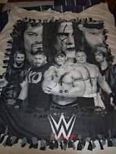 FANTASTIC COLLECTORS WWE WRESTLING HAND TIED DOUBLE SIDED FLEECE BLANKET~NEW