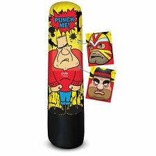 Pure Boxing Bully Bag 56-Inch Inflatable Punching Bag with Interchangeable Faces