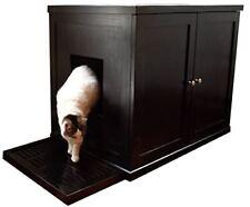 Refined Feline Litter Box Large Espresso Furniture Scratchers Cat Supplies Pet
