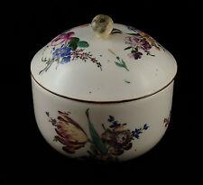 Porcelaine de Hochst Germany Pot à fard décor floral roses dahlias XVIIIe