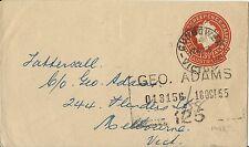 AUSTRALIA QE11 1955 THREE HALF PENCE COVER TO MELBOURNE USED