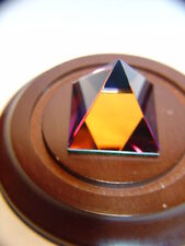 Crystal PAPERWEIGHT Mystic Pyramid  Leaded Glass Display Decore Curio
