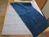 Fabric Fine Corduroy Narrow Wale 100% Cotton Needlecord Babycord Dark Blue 16x60