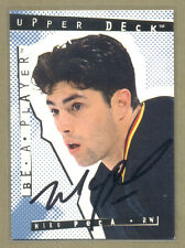 Mike Peca (Canucks) 1994-95 Be A Player hockey AUTOGRAPH