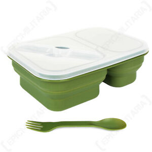 Silicone Microwaveable Collapsible Lunchbox Container - Hiking Camping Work
