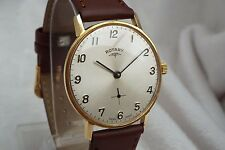 6 Gents Vintage Gold Plated Rotary 15j Mechanical Wrist Watch
