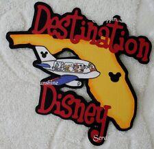 DESTINATION DISNEY Florida by Plane Die Cut Title Scrapbook Page Paper Piece