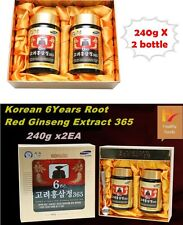 (240g x 2Bottle) Korean 6Year Root Red Ginseng Extract