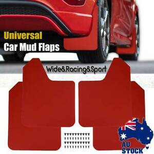 4X Universal Mud Flaps Guard W/Clips  Wide Racing Rally Car Performance Mudflaps