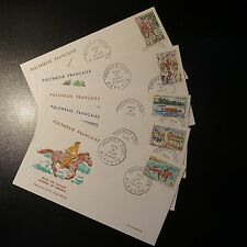 POLYNESIA FRENCH N°47/51 ON LETTER COVER 1st DAY FDC