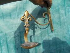 Lampe applique a huile fleur de Lys bronze style art nouveau sconce oil lamp
