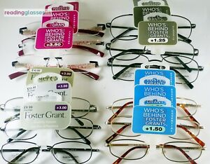 FOSTER GRANT Reading Glasses (3 x PAIR PACK) +1.0 +1.25 +1.5 +3.0 +3.5 LOW PRICE