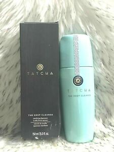 Tatcha The Deep Cleanse  Clarifying  Daily Gel Cleanser FULL SIZE 150 ml /5 oz