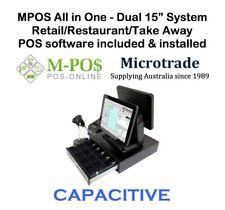 """15"""" CAPACITIVE POS Terminal, with MPOS Retail Point of Sale Software, COMPLETE"""