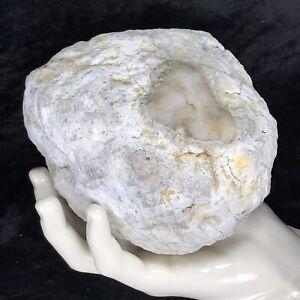 """5-1/2"""" Large Geode Crystal Rattler Unopened Quartz Break Your Own Kentucky Rock"""