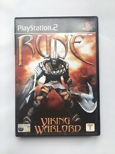 Rune PS2 Viking Warlord Sony Playstation 2 Game Manual Included