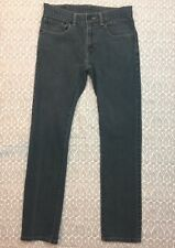 Levis 510 Men's Super Skinny Jeans Size 28X28 Light Black Gray Denim Pants J74