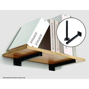 20cm Floating Shelf Brackets Industrial Metal Shelving Supports 4-Pack