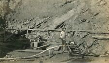c1910 Mining Pit Occupation Pump Pipes Worker Wiggins RPPC Real Photo