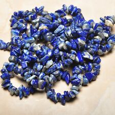 Blue Pyrite Lapis Lazuli Jasper Raw Material Free Form Nuggets Chips Beads 17""