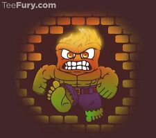 THE INCREDIBLE HULK Dont Make Him Angry INSIDE OUT Disney Marvel TEEFURY T-SHIRT