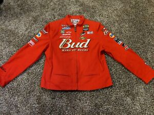 New Women's Chase Authentics Nascar Jacket #8 Dale Earnhardt Jr size M Budweiser