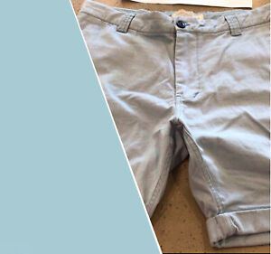 Academy Outfitters Tapered Shorts Cuffed Blue Cotton Chinos Men's Size 34 NEW