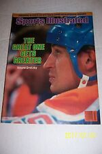 1985 Sports Illustrated EDMONTON Oilers WAYNE GRETZKY No Label GREAT ONE GREATER