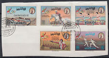 Bahreïn 1984 mi.346/50 on piece Jeux Olympiques Olympic Games sports [st2655]