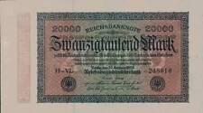 Huge 1923 Germany Weimar Republic Hyper Inflation 20.000 Mark Banknote