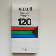 Maxell Epitaxial Grade T-120 Blank Video Recording Cassette VHS Tape New Sealed
