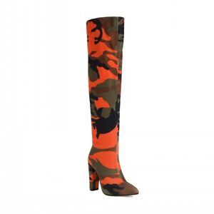 New Women Pointy Toe Block High Heel Over The Knee Boots Sexy Party Outdoor 43 L