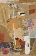 Framed Print - Kurt Schwitters Opened by Customs (Collage Picture Abstract Art)