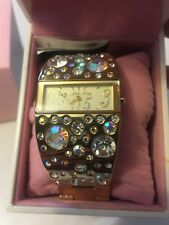 Hello Kitty Japan Limited Edition 35th Anniversary Crystal Gold Band Watch - BIN