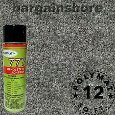 "1 777 glue+ 3ft long x 48"" wide Charcoal Chr33 Polymat S25 Latex Backed Carpet"