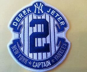 """New York Yankees THE CAPTAIN Derek Jeter #2 Embroidered Iron On Patch  3.5"""""""