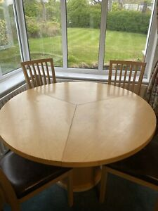 Skovby Danish Extending Round Maple Table