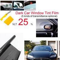 PET 25% 6M Film Teinte Solaire Noir Autocollant Vitre Fenêtre Voiture Batiment
