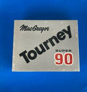 12 Vintage MacGregor Tourney Super 90 Balata Cover Liquid Center Golf Balls 1964