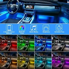 Lights Car LED With App Control 48 LED RGBIC Color Lighting Kits Sync to Music