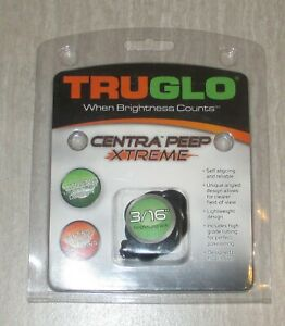 TRUGLO Black CENTRA PEEP XTREME 3/16 TUBE TG78Y Bowstring Target Hunting Peep