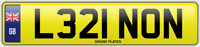 LENNON NUMBER PLATE LENNON'S CAR REGISTRATION L321 NON FEES PAID LENNON SURNAME