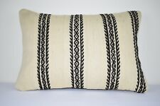Natural Handmade Kilim Pillow Cushion Cover - Large Turkish Anatolian 16''x24''