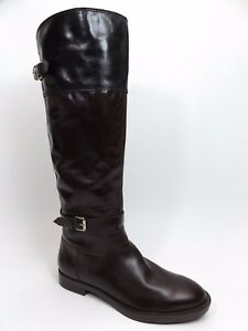 Enzo Angiolini EAEERO Women's Leather Riding Boots Sz 6.0 M  NEW DISPLAY 9114