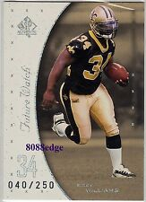 1999 SP AUTHENTIC ROOKIE CARD RC #91: RICKY WILLIAMS #40/250 NEW ORLEANS SAINTS