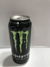 Monster Energy Drink Warped Tour Water Full Can.VISIBLE DENTS & CREASE.Dist 2010