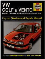 Haynes Service Repair Manual VW Golf & Vento 1992 to 1998 4-cyl Petrol & Diesel